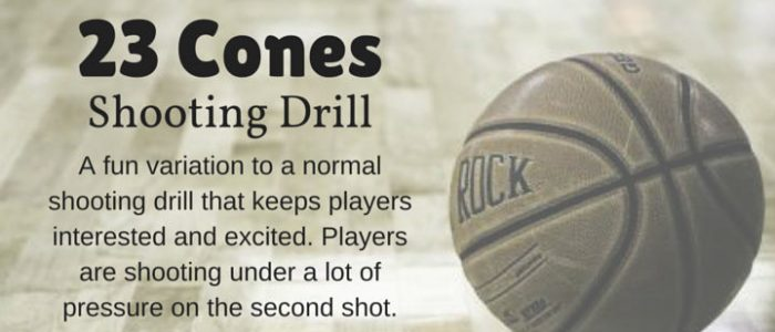 23 Cones Shooting Drill