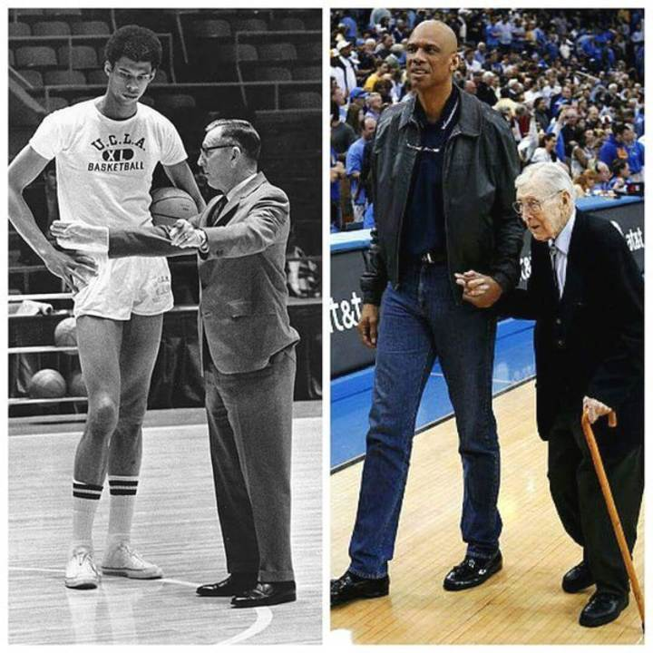 Kareem Abdul Jabbar and John Wooden