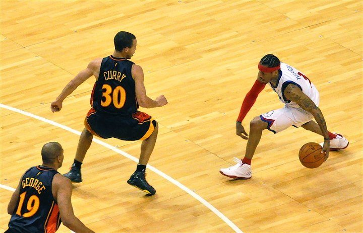 allen iverson crossover against steph curry